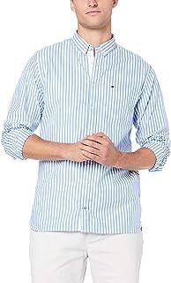 TOMMY HILFIGER Men's Essential Pure Cotton Stripe Shirt