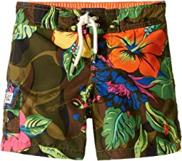 Kailua Floral Camo Swim Trunks (Toddler)