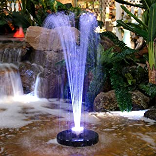 Alpine FTC102 550-GPH Pump 48-LED Light Floating Spray Fountain, 530 gph, Beige