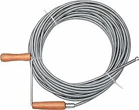 KENDO Rohrreinigungsspirale Rohreingerwelle 7.6 m x 9 mm flexible Spirale zur Abflussreinigung mit Handkurbel und Bohrkopf