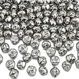 100 Pieces Jingle Bells, Craft Bells, DIY Bells for Wreath, Holiday Home and Christmas Decoration (4/5 Inch)