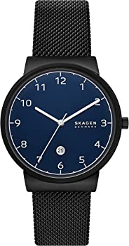Skagen Ancher Stainless Steel and Mesh Quartz Men's Watch