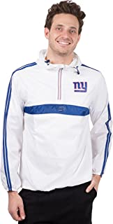 Ultra Game NFL Men's Quarter Zip Pullover Hoodie Packable Windbreaker Jacket