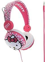 color blanco Hello Kitty HK8903W Orejeras tejidas para audio con diadema y conector de 3.5 mm