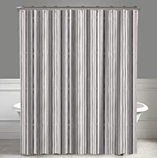 """A1 Home Collections A1HC Stripe Neutral Mira Water Repellent Shower Curtain 72""""X72"""""""