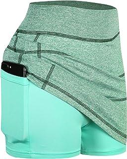JCZHWQU Womens Active Performance Skort Sports Golf Tennis Skirt Inner Shorts with Pockets