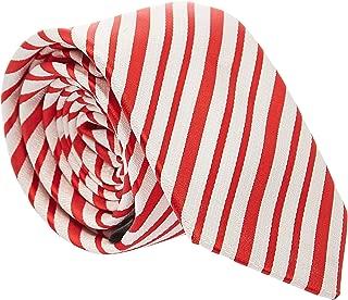 Pierre Cardin Slim Neck Tie for Men - Free Size, Red/White