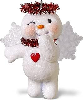Hallmark Keepsake Christmas Ornament 2018 Year Dated, Shining Snow Angel Snowman