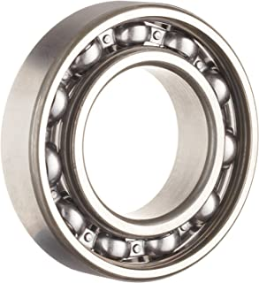 1650lbf Static Load Capacity Metric SKF 16006 Radial Bearing 2520lbf Dynamic Load Capacity Normal Clearance Deep Groove Design 9mm Width 55mm OD Open 30mm Bore Steel Cage ABEC 1 Precision Single Row