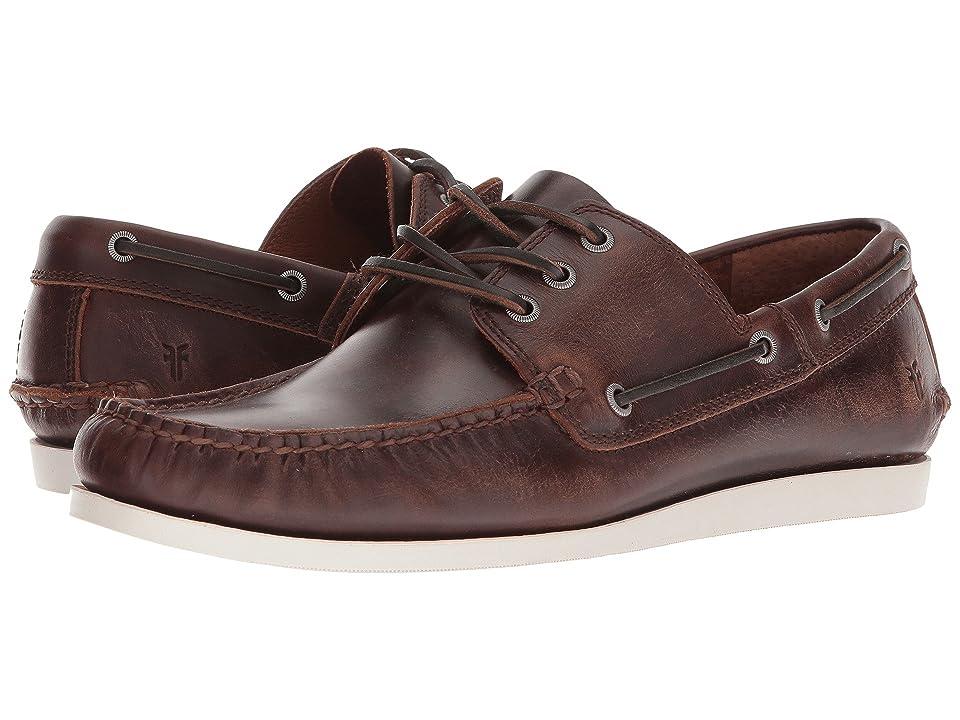 Frye Briggs Boat Shoe (Redwood Smooth Pull Up) Men