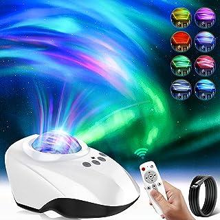 Projecteur Aurores Veilleuse pour Enfant,Aurores Boréales Planetarium Projecteur Musicale avec Haut-parleur Bluetooth Minu...