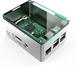 anidees Raspberry Pi3 /Pi3 B+Fully Aluminium Unibody Design case Extra Height with Clear Acrylic top lid - Silver (AI-PI-SG-H)