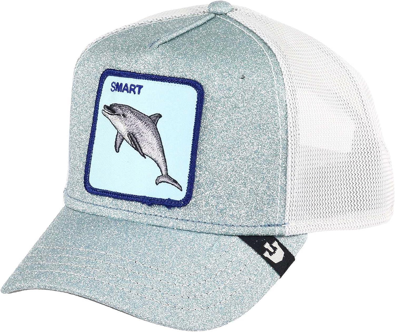 Goorin Bros. Mens Animal Farm Snap Back Trucker Hat Baseball Cap, Blue Shady Business Dolphin, One Size