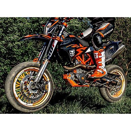 Race Styles Dekor Kompatibel Mit Ktm 690 Smc Smcr Enduro 2008 Bis 2011 Factory Decals Kit Aufkleber Graphics Auto