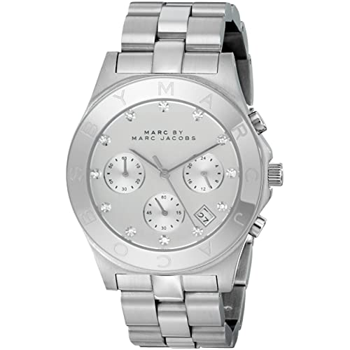 Marc by Marc Jacobs Womens MBM3100 Blade Silver Watch