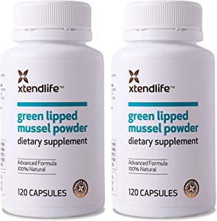 Xtend-Life Green Lipped Mussel Powder for Joint Health and Healthy InflammationManagement, 100% New Zealand Green Lipped Mussel Powder, Immune Support, 120 Capsules, 2 Pack