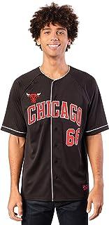 Ultra Game NBA Men's Mesh Button Down Baseball Jersey Tee Shirt
