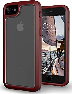 iPhone 7 Case, Trident Expert Series [Slim Rugged] (Crystal Clear) Case for iPhone 7 (Crimson Red)
