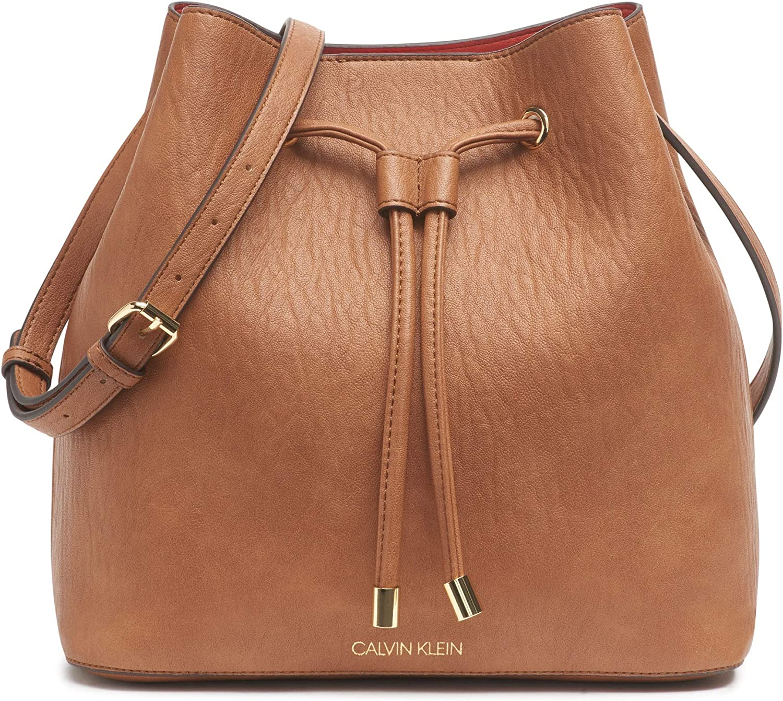 Calvin Klein Womens Gabrianna Novelty Bucket Shoulder Bag