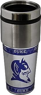 NCAA Duke Blue Devils 16 oz Travel Tumbler with Metallic Wrap
