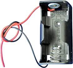 Ajax Scientific Battery Holder with Lead Wire, 1x C Cell (Pack of 10)