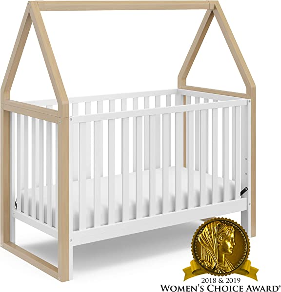 Storkcraft Orchard 5 In 1 Convertible Crib Driftwood Easily Converts To Toddler Bed Daybed Full Size Bed And Playhouse Detachable Canopy 3 Position Adjustable Mattress Support Base