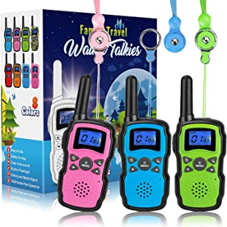 Wishouse Walkie Talkies for Kids 3 Packs, Two Way Radio Family Talkabout for Adults Long Range, Outdoor Camping Hiking Halloween Fun Toys Birthday Gift for 3 4 5 6 7 8 9 10 11 12 Year Old Girls Boys