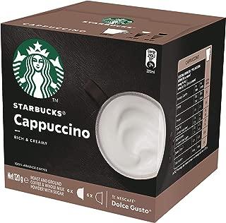 Starbucks Cappuccino by NESCAFÉ Dolce Gusto Coffee Pods, Box of 6+6 Capsules , 120g (6 Serves)