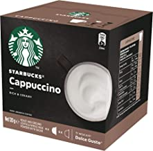 Starbucks Cappuccino by NESCAFÉ Dolce Gusto Coffee Pods, Box of 6+6 Capsules , 120g (6 Serves)