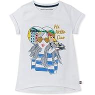 Tommy Hilfiger Girls' Big Short Sleeve Graphic Tee Shirt