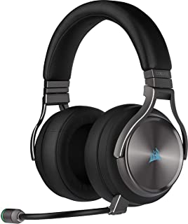 Corsair VIRTUOSO RGB WIRELESS SE, Auriculares para Juegos de Alta Fidelidad, Envolvente e Inmersivo 7.1, Micrófono Extraíb...