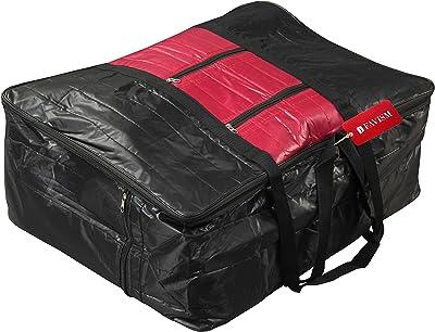 FAVISM Designer Big Blanket Cover or Garments Cover or Bedding Bag - Black