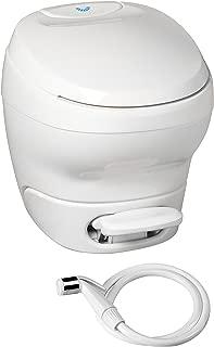 Aqua-Magic Bravura RV Toilet with Hand Sprayer / High Profile / White - Thetford 31100