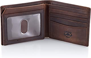 Stealth Mode Leather Bifold Wallet for Men With ID Window and RFID Blocking