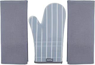 Honla Silicone Oven Mitts with Stripe Fabric and Terry Cloths Lining,Heat Resistant to 500 F,1 Pair of Kitchen Oven Gloves...