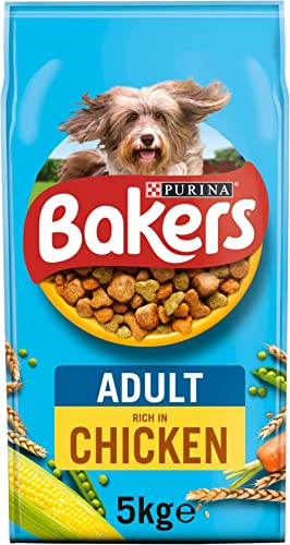 Bakers Complete Dry Dog Food with Tasty Chicken and Country Vegetables, 5kg product image