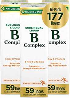 Vitamin B-Complex by Nature's Bounty, Dietary Supplement, Sublingual Liquid, Supports Energy Metabolism and Nervous System...