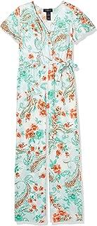 Amy Byer Girls' Flutter Sleeve Jumpsuit
