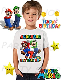 Mario Bros and Luigi Birthday Shirt, Mario Bros Birthday Party, Add Any Name and Age, Family Matching Shirts, Boys and Girls Birthday Shirts, Mario Bros Birthday Shirt 3