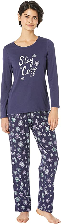 Graphic Pajama Set