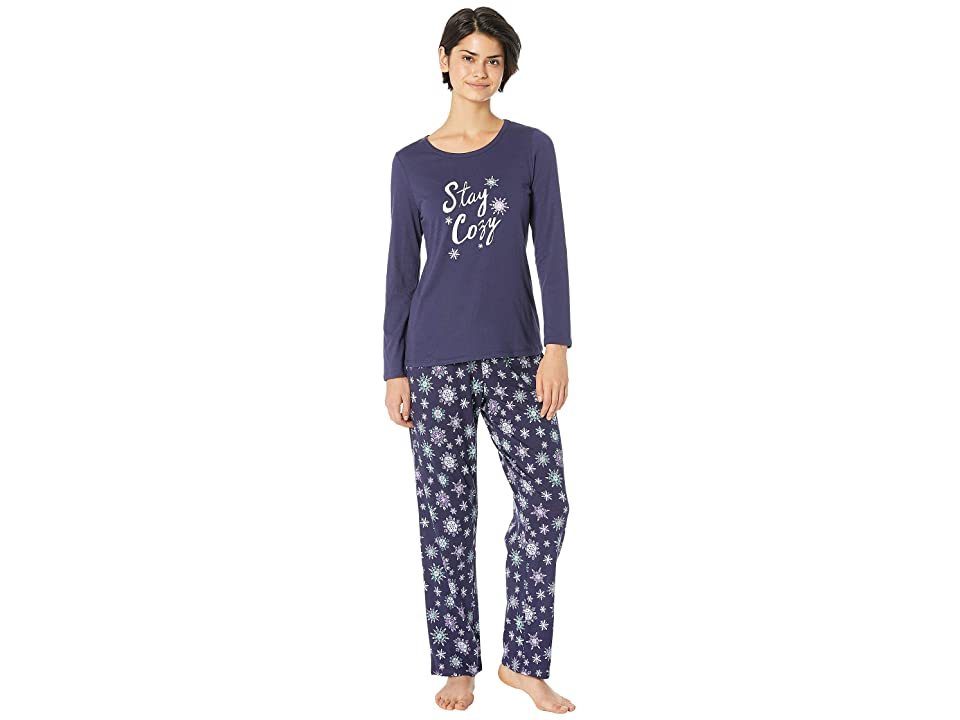 Nautica Graphic Pajama Set (Navy Print) Women