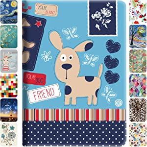 DuraSafe Cases for iPad 8th 2020 7th 2019 Generation [ iPad 8 iPad 7 ] 10.2 Inch Smart Auto Sleep/Wake Slim Profile with Adjustable Viewing Angle Stand Printed Flip Cover - Puppy Friend