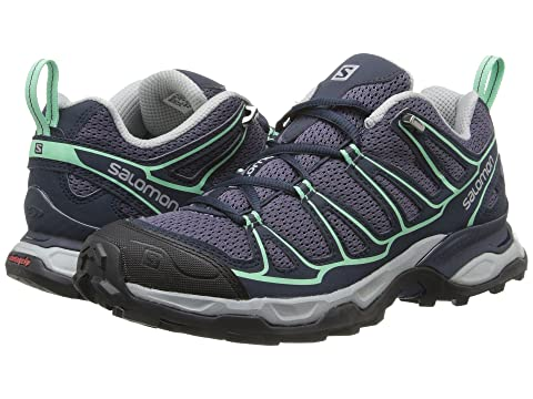 Salomon X Ultra Prime Artist Grey-X/Deep Blue/Lucite Green B - Medium Women's Running Shoes 8447546