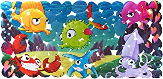 "Weltru Non-Slip Baby Bath Mat for Children – Latex Free, Size 28"" x 14"" (Blue)"