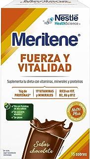 Meritene® FUERZA Y VITALIDAD - Suplementa tu nutrición y mantén tu sistema inmune con vitaminas. minerales y proteínas - Batido