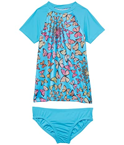 Nike Kids Butterfly Short Sleeve Top Bikini Set (Little Kids/Big Kids)