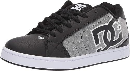 DC chaussures Men's Net SE Low Top baskets chaussures noir Blk Wht 12