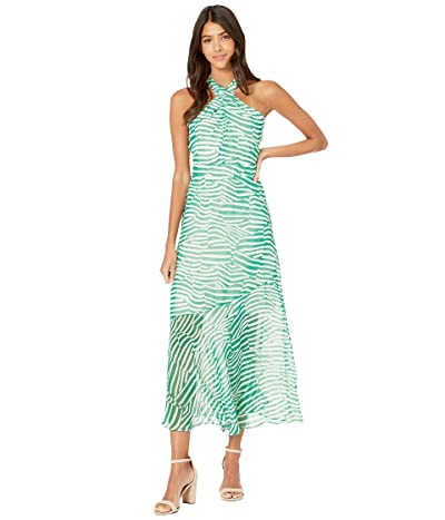 Sam Edelman Stripe Graphic Maxi Dress (Green/Ivory) Women