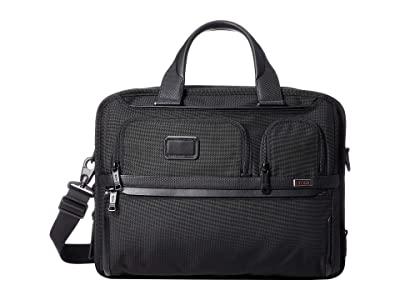 Tumi Alpha 3 Expandable Organizer Laptop Brief (Black 1) Luggage