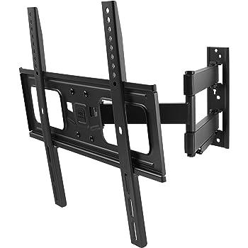 """One For All WM2651, Soporte de pared para TV de 32 a 84"""" Giratorio 180° Peso máx. 50kg, Para todo tipo de TVs LED, LCD, Plasma, negro: Amazon.es: Electrónica"""